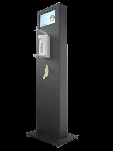 Hygienesäule inkl. Spender + Monitor